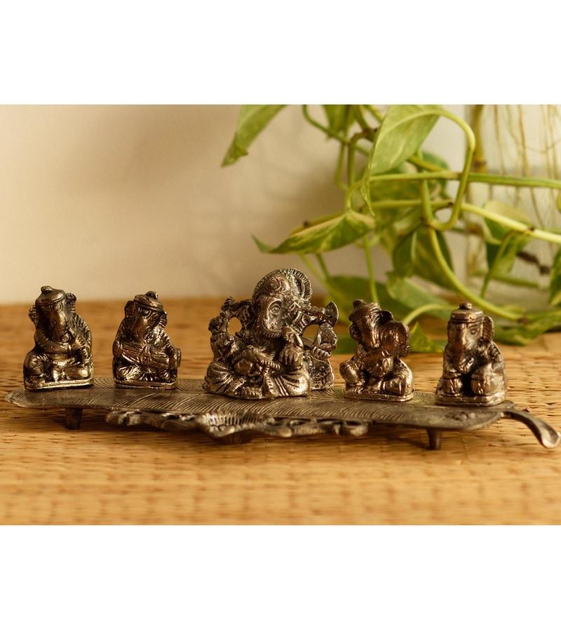 Buy Silver Metal Musical Ganesha Incense Stick Holder By