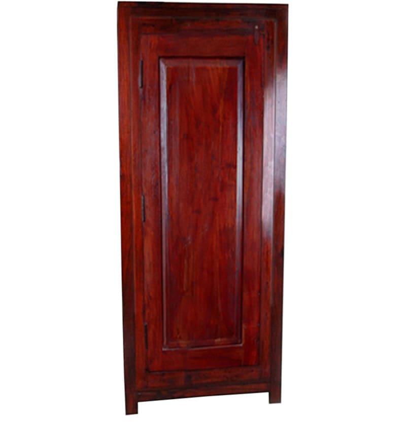 Single Door Slim Almirah In Sheesham Wood By Mudramark Online Wardrobes Furniture