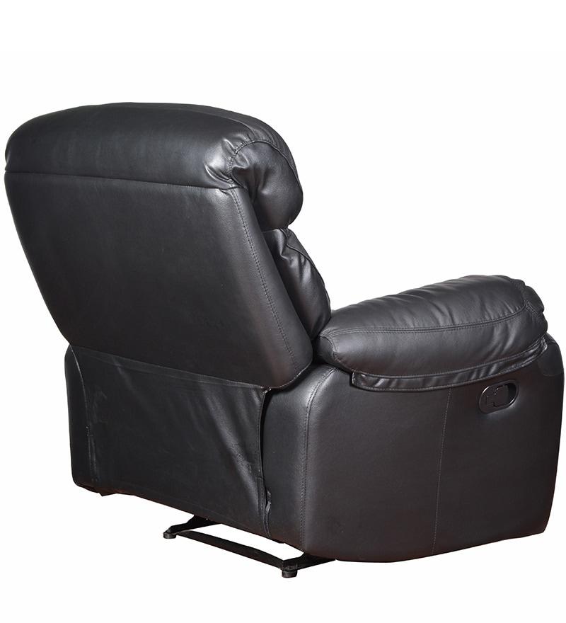 Leather Sofa Sale India: Buy Single Seater Half Leather Manual Recliner Rocker Sofa