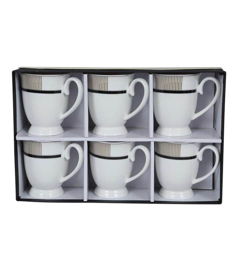 Buy Sivica Bone China 180 Ml Tea Cups Set Of 6 Online Mugs