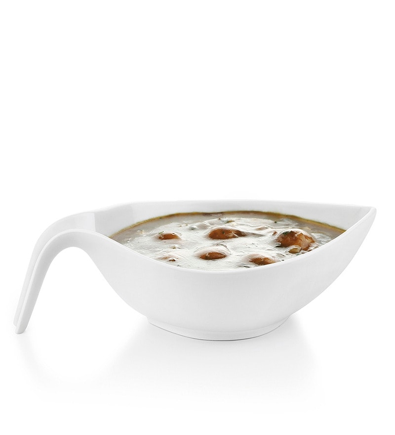 Sivica Stem White Porcelain 60 ML Serving Bowl