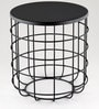 Side Table in Black Finish by Indecrafts