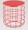 Side Table in Red Colour by Indecrafts