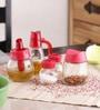 Herevin Siena Alpin Set - 2 Spice Shakers, 1 Spice Jar, 1 Sugar & 1 Liquid Dispenser