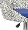 Simo Bar Chair in Print and Blue  Color by The Furniture Store