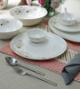 Premium Bone China Dinner Set - Set of 34 by Sivica