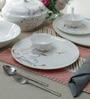 Premium Bone China Dinner Set - Set of 35 by Sivica