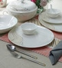 Premium Bone China Dinner Set - Set of 35 by Sivica