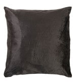 Grey Velvet 16 x 16 Inch Plain Cushion Cover