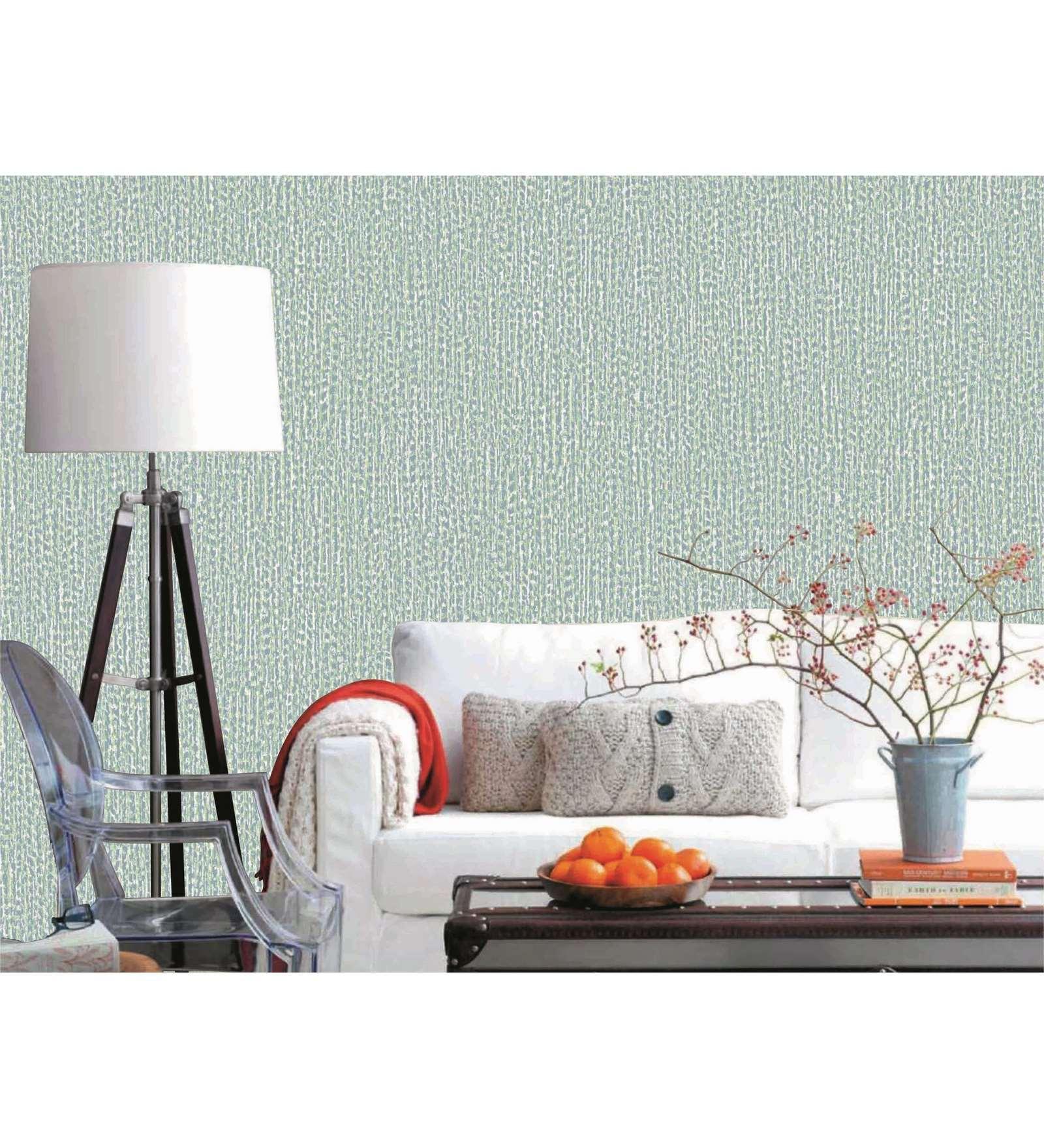 Sky Blue PVC 394 x 21 Inch Wallpaper by Presto