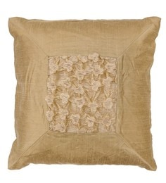 Skipper Brown Polyester 16 X 16 Inch Fluffy Surface Play Cushion Cover