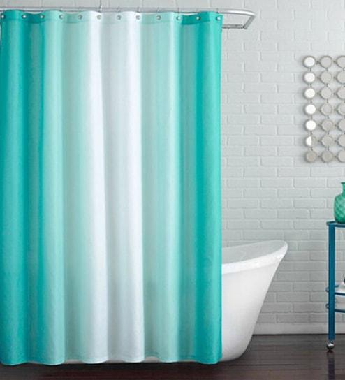 Aqua Pvc 70 X 78 Shower Curtain By Skipper