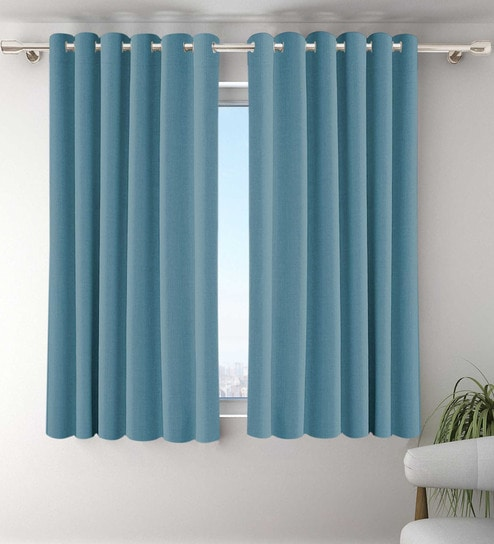 panel noise blackout x cm thermal blue sky castle curtains eyelet insulated sea anti dp kinlo