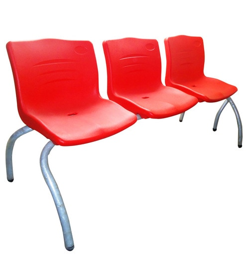 Skywalk Reception Chair In Red Colour By Olympia Seating