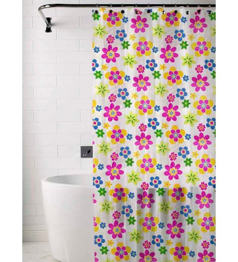 Skipper multicolored floral print shower curtain by for Diwan name wallpaper