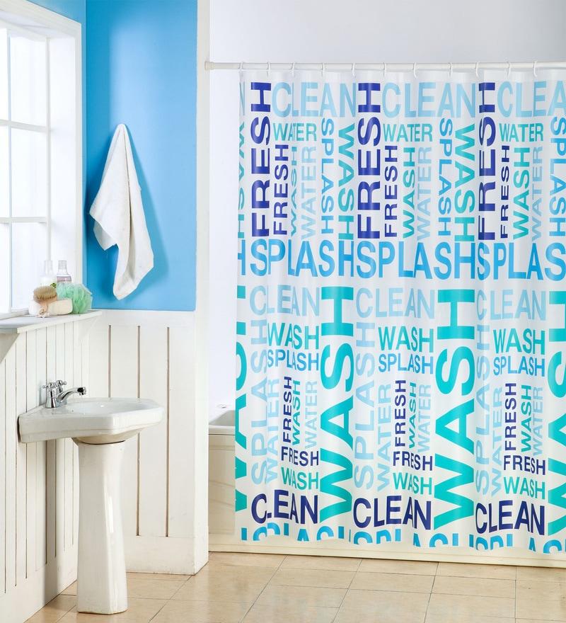 Multicolour Pvc 70 X 70 Shower Curtain by Skipper