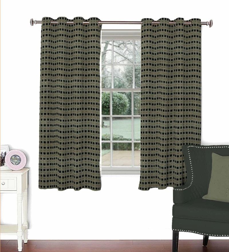 Skipper Multicolour Viscose & Polyester 44 x 60 Inch Eyelet Window Curtain (Model No: 089218)