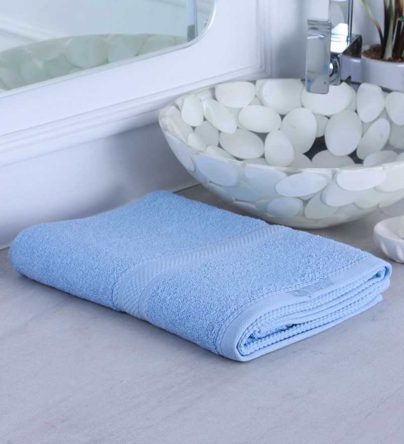 Sky Blue 100% Cotton Bath Towel by Raymond Home