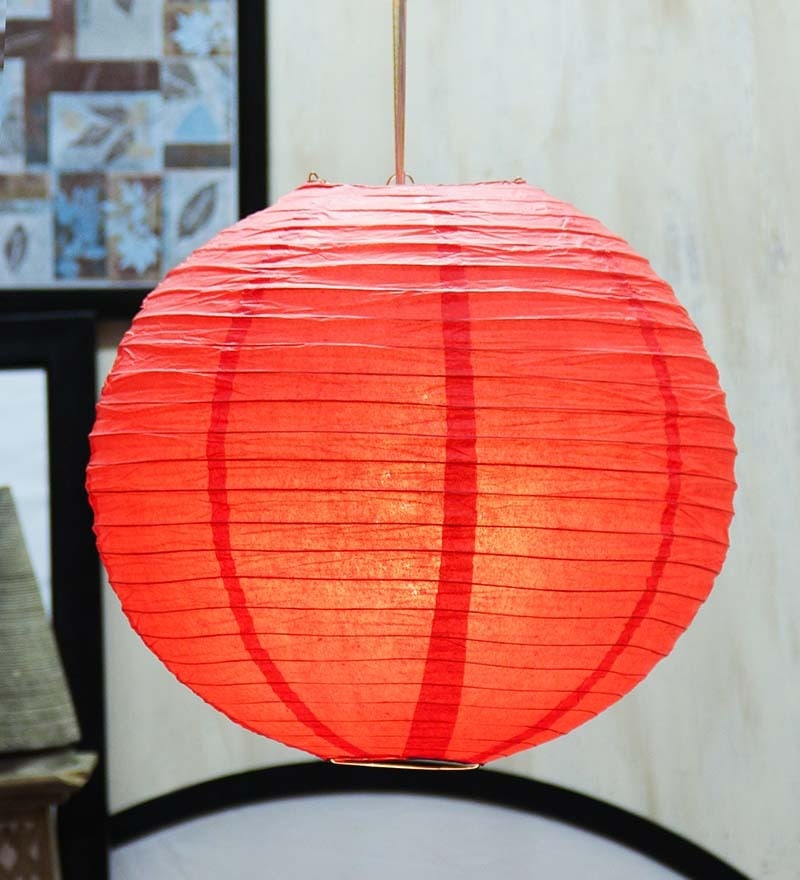 Red paper lantern by skycandle