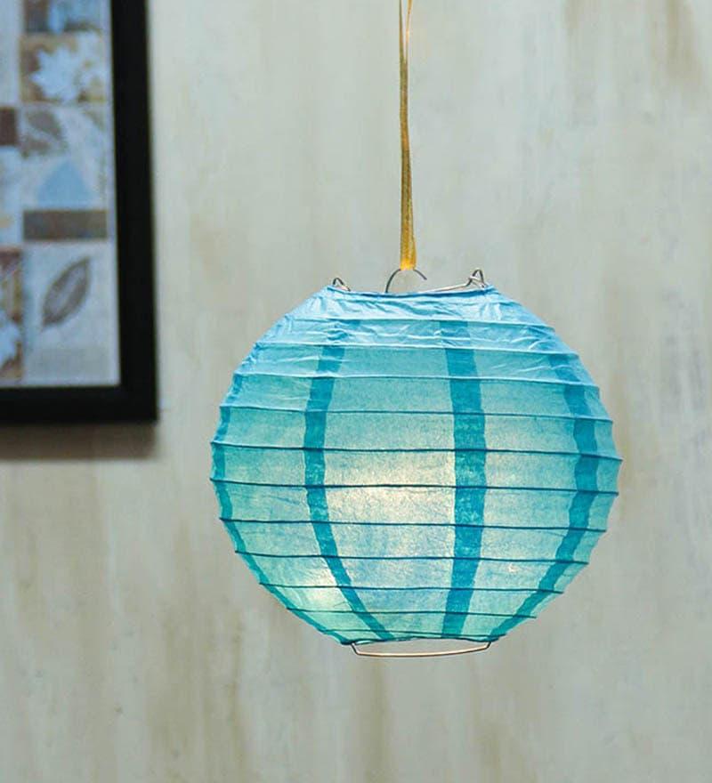 Blue Paper Sky Diwali Lantern by Skycandle