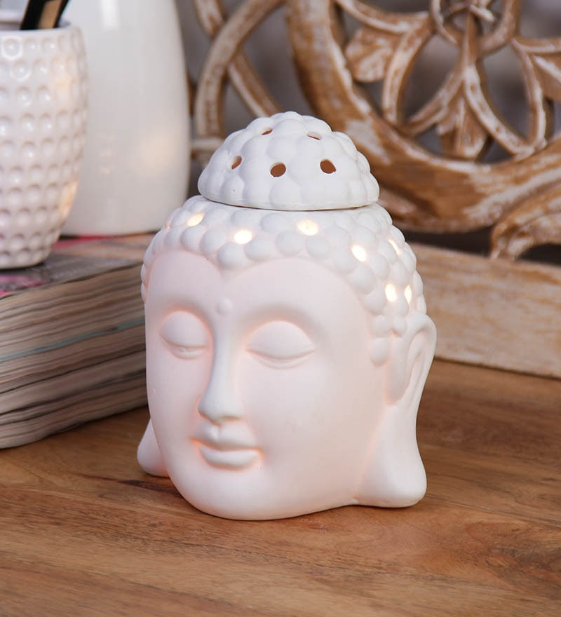 White Ceramic Warmer and Burner Skycandle