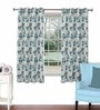 Aqua Viscose & Polyester 44 x 60 Inch Eyelet Window Curtain (Model No: 090743) by Skipper