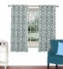 Aqua Viscose & Polyester 44 x 60 Inch Eyelet Window Curtain (Model No: 090757) by Skipper