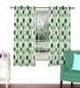 Aqua Viscose & Polyester 44 x 60 Inch Eyelet Window Curtain (Model No: 091882) by Skipper