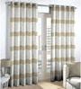 Skipper Beige Cotton & Polyester Window Curtain - Set of 2