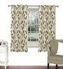 Beige Viscose & Polyester 44 x 60 Inch Eyelet Window Curtain (Model No: 090727) by Skipper