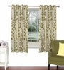 Skipper Beige Viscose & Polyester 44 x 60 Inch Eyelet Window Curtain (Model No: 090751)