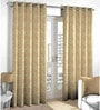 Brown Viscose & Polyester Abstract Pattern Window Curtain - Set of 2 by Skipper