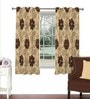 Skipper Brown Viscose & Polyester 44 x 60 Inch Eyelet Window Curtain (Model No: 090313)