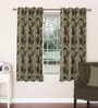 Brown Viscose & Polyester 44 x 60 Inch Eyelet Window Curtain (Model No: 092249) by Skipper