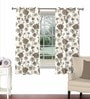 Brown Viscose & Polyester 44 x 60 Inch Eyelet Window Curtain (Model No: 092315) by Skipper