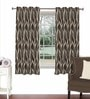 Skipper Brown Viscose & Polyester 44 x 60 Inch Eyelet Window Curtain (Model No: 092634)