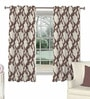 Skipper Brown Viscose Abstract Window Curtain