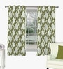 Skipper Green Viscose Abstract Window Curtain