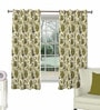 Skipper Green Viscose Floral Window Curtain