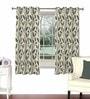 Skipper Grey Viscose & Polyester 44 x 60 Inch Eyelet Window Curtain (Model No: 090731)