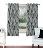 Grey Viscose & Polyester 44 x 60 Inch Eyelet Window Curtain (Model No: 092599) by Skipper