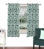 Skipper Green Viscose & Polyester 44 x 60 Inch Eyelet Window Curtain (Model No: 092601)