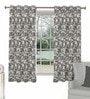 Skipper Grey Viscose Abstract Window Curtain