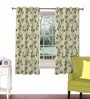 Skipper Lime Green Viscose & Polyester 44 x 60 Inch Eyelet Window Curtain (Model No: 090740)