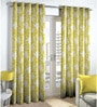 Lime Polyester & Cotton Floral Window Curtain - Set of 2 by Skipper