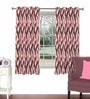Magenta Viscose & Polyester 44 x 60 Inch Eyelet Window Curtain (Model No: 091885) by Skipper