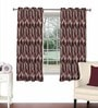 Skipper Magenta Viscose & Polyester 44 x 60 Inch Eyelet Window Curtain (Model No: 092609)