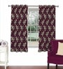 Magenta Viscose & Polyester 44 x 60 Inch Eyelet Window Curtain (Model No: 092611) by Skipper