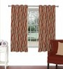 Skipper Maroon Viscose & Polyester 44 x 60 Inch Eyelet Window Curtain (Model No: 090339)