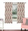 Maroon Viscose & Polyester 44 x 60 Inch Eyelet Window Curtain (Model No: 090722) by Skipper